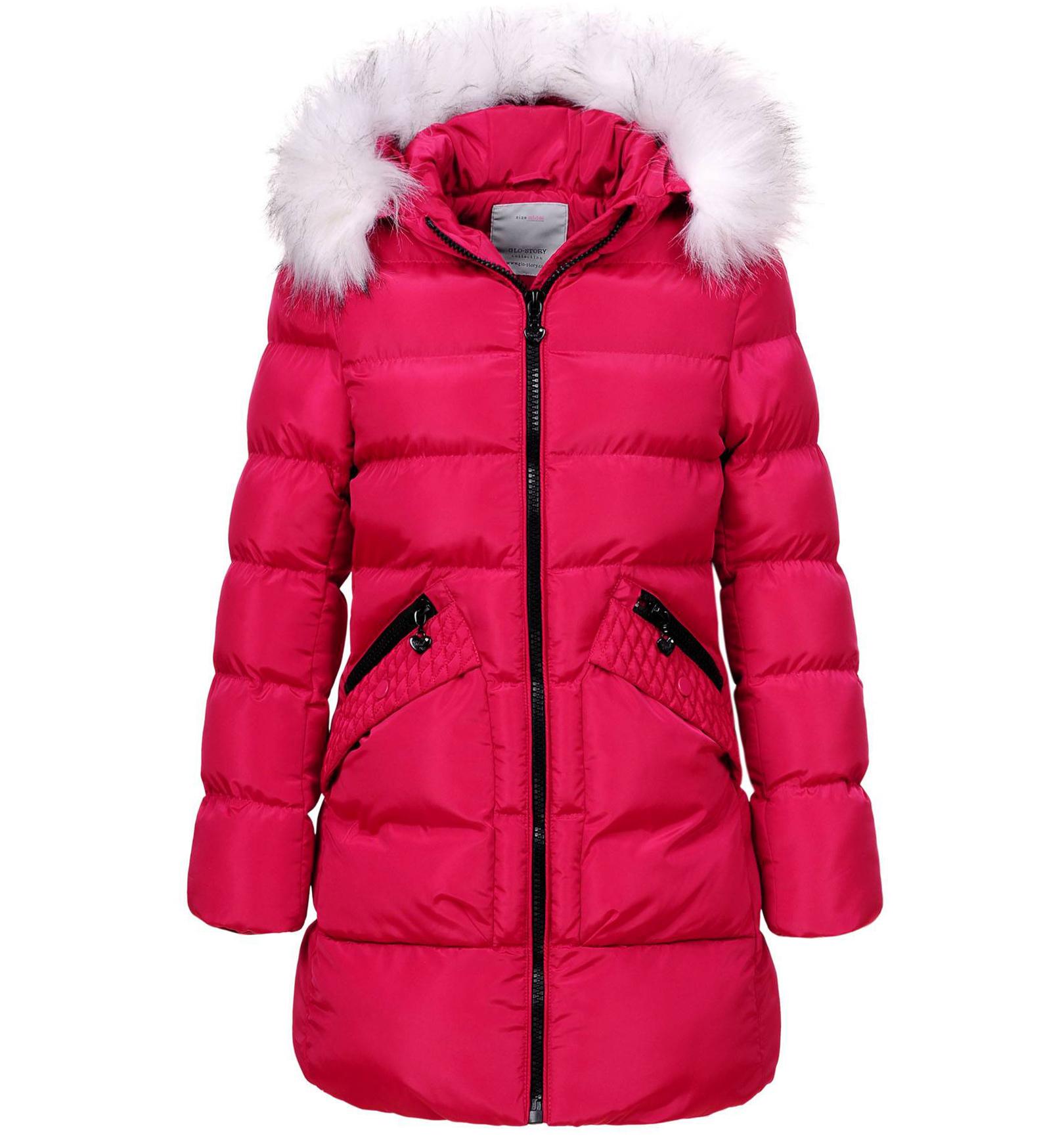 Dívčí zimní kabát GLO STORY GIRL 96 tmavě růžový Velikost: 134