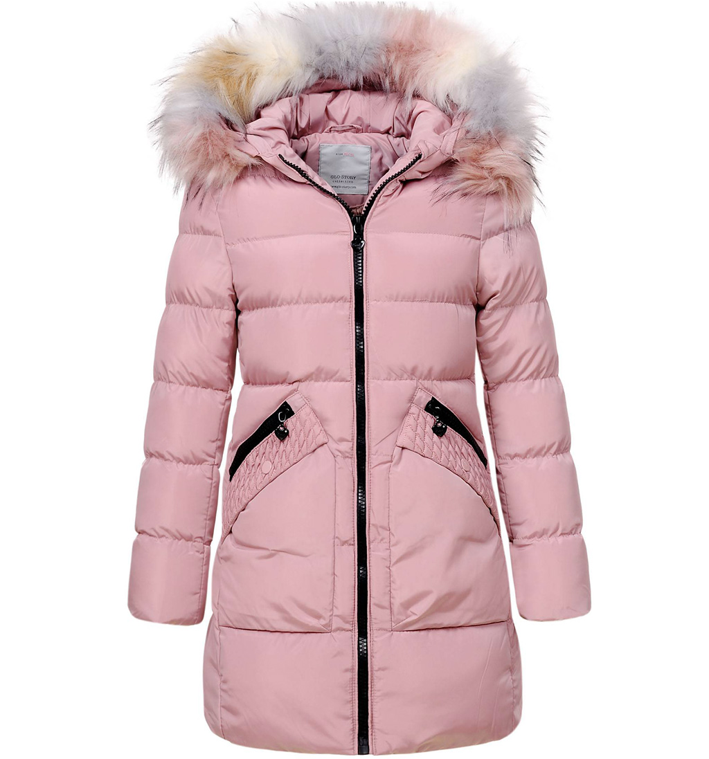 Dívčí zimní kabát GLO STORY GIRL 96 světle růžový Velikost: 134