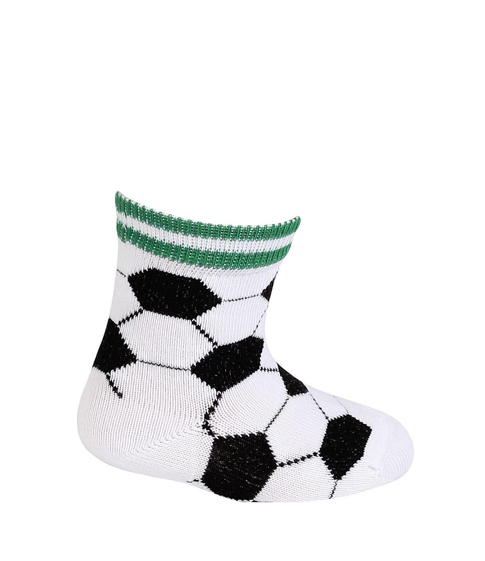 Kojenecké vzorované ponožky WOLA FOTBALOVÉ MÍČE bílé Velikost: 12-14