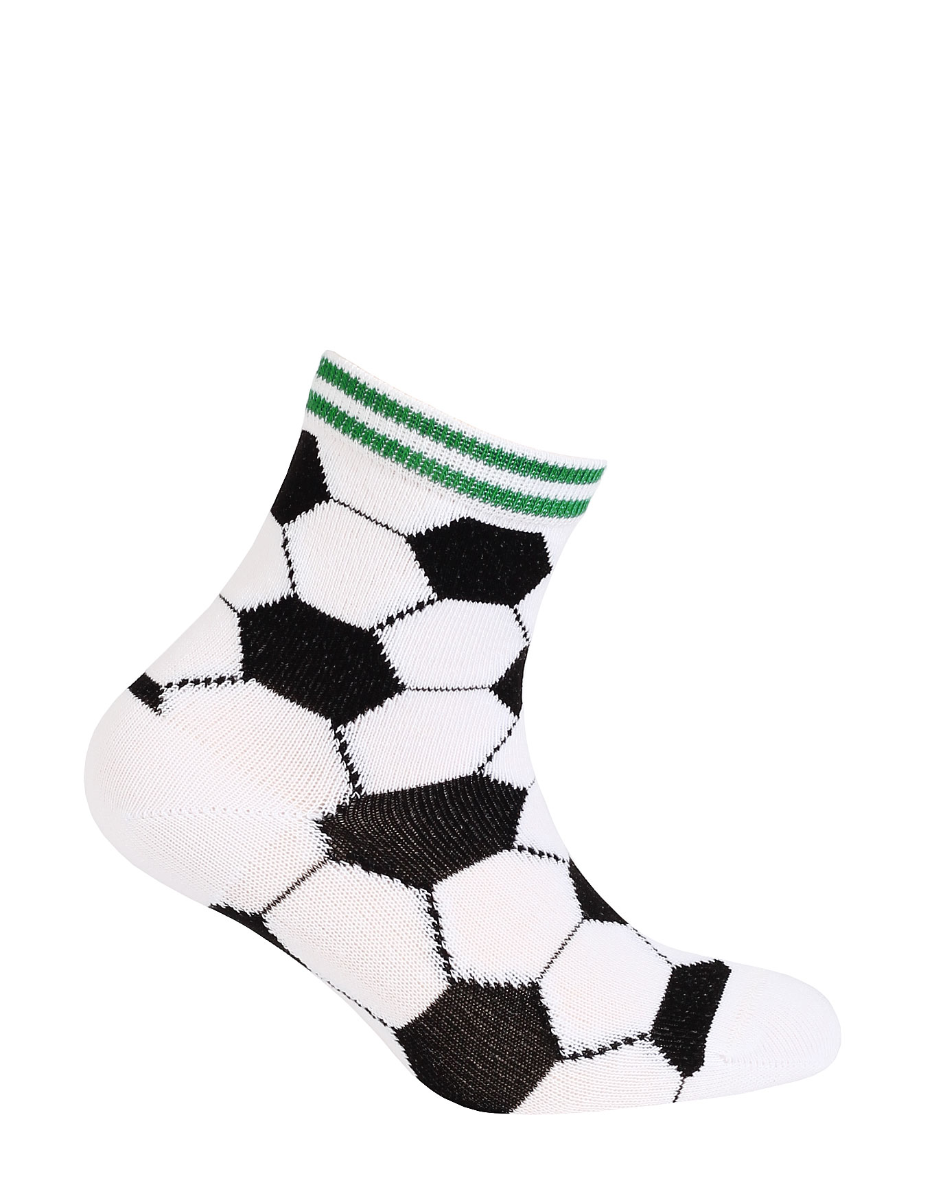 Chlapecké vzorované ponožky WOLA FOTBALOVÉ MÍČE bílé Velikost: 21-23