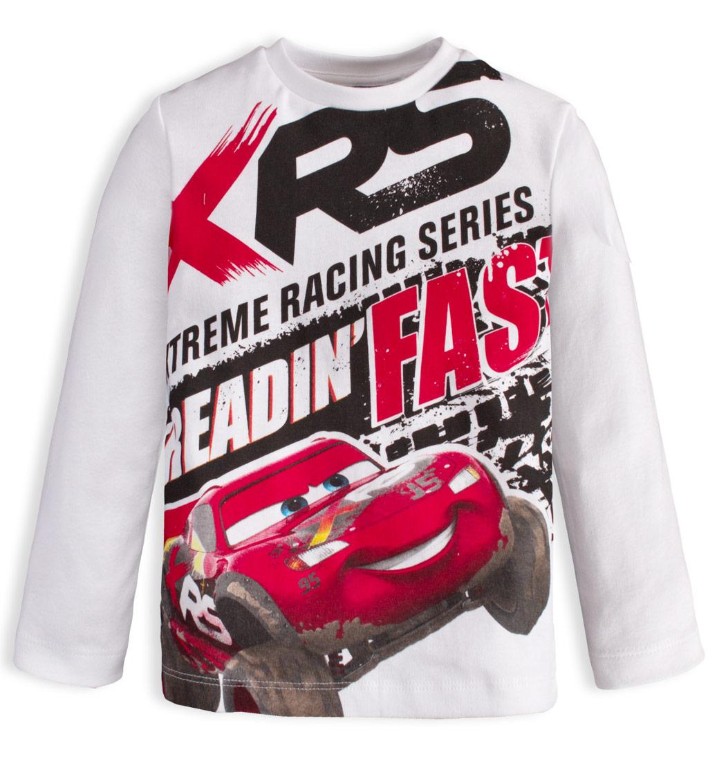 DISNEY CARS Chlapecké tričko CARS RACING bílé Velikost: 98
