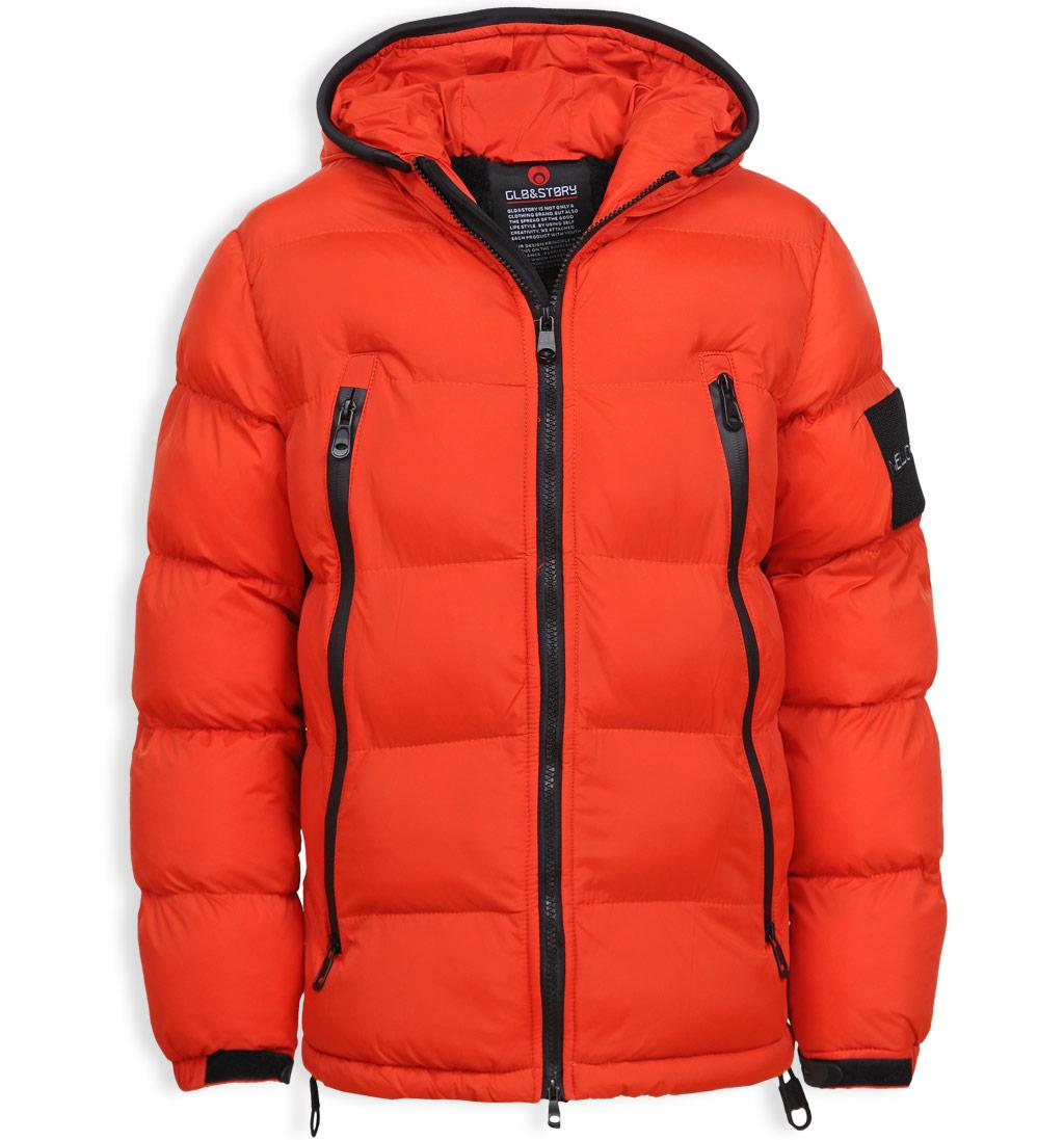 Chlapecká zimní bunda GLO STORY VOGUE oranžová Velikost: 158-164