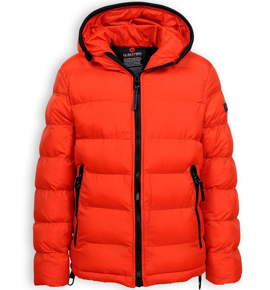 Chlapecká zimní bunda GLO STORY NEW oranžová Velikost: 146-152