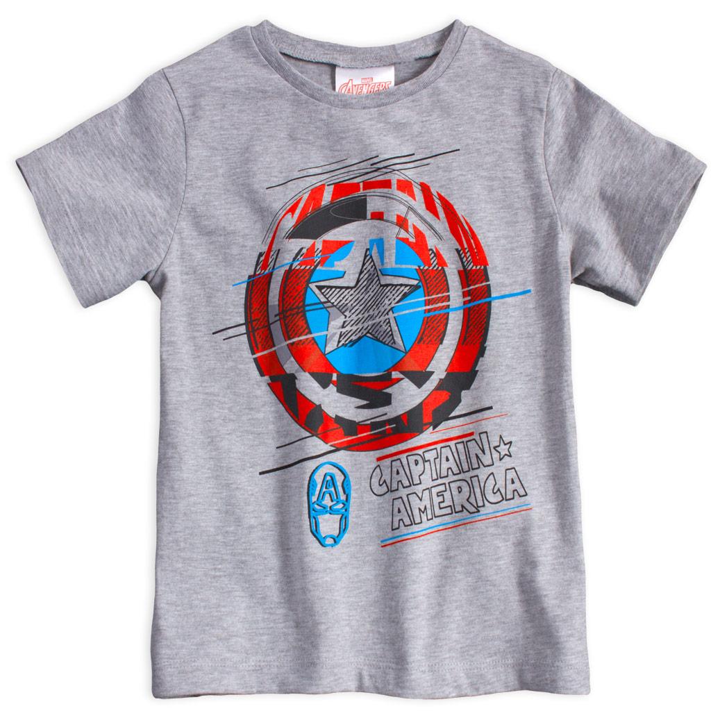Chlapecké tričko AVENGERS CAPTAIN AMERICA šedé Velikost: 104
