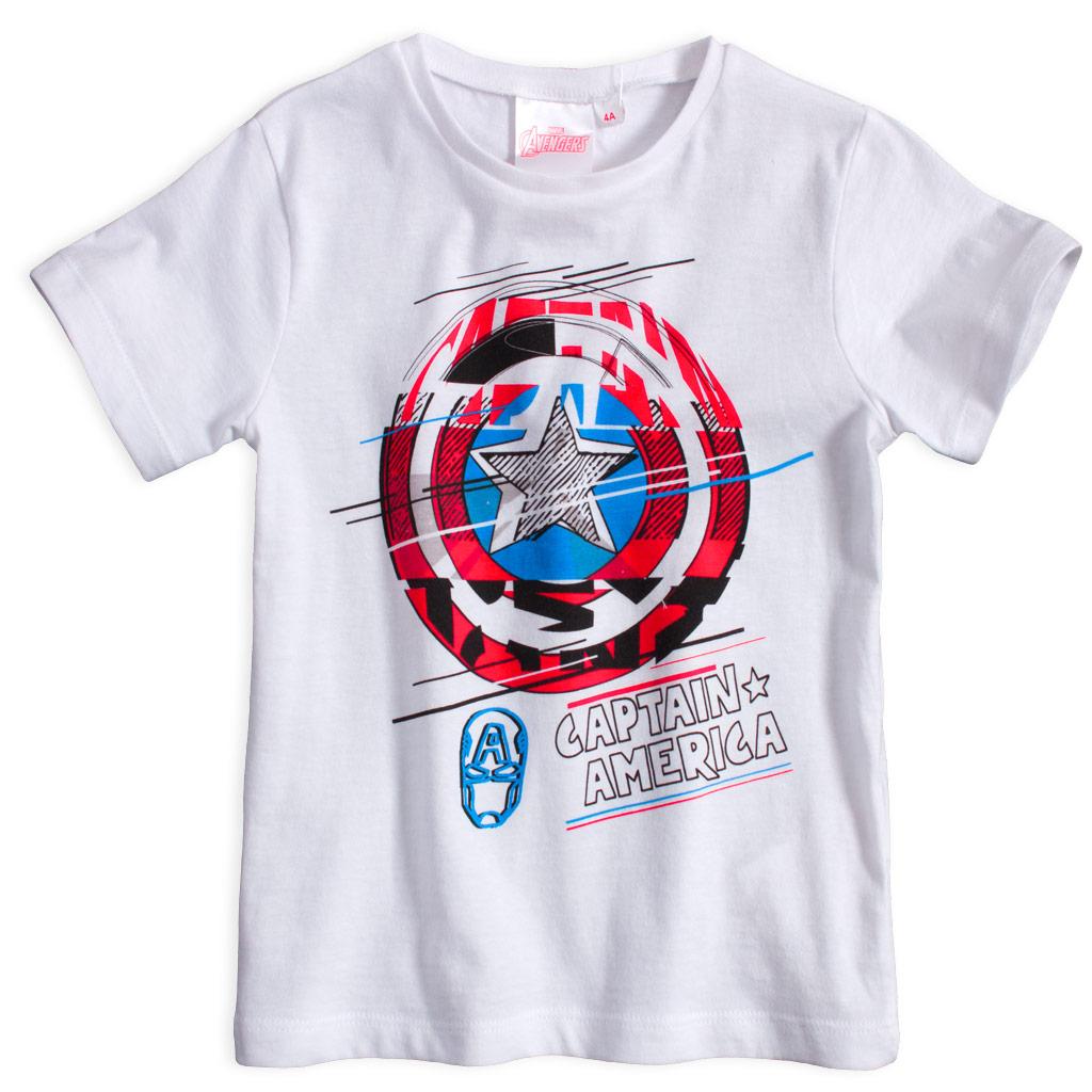 Chlapecké tričko AVENGERS CAPTAIN AMERICA bílé Velikost: 104