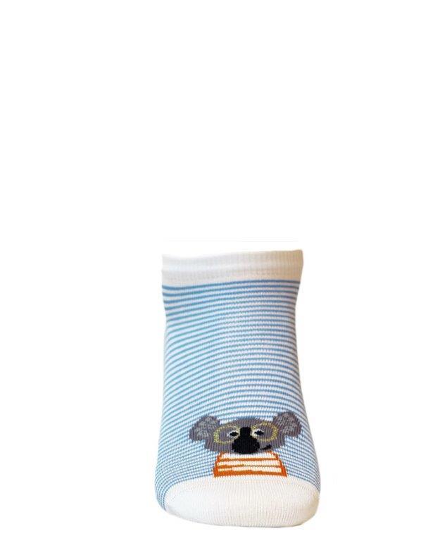 Dětské kotníkové ponožky WOLA KOALA bílé Velikost: 21-23