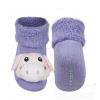 Kojenecké ponožky s chrastítkem PRASÁTKO fialové