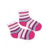 Dívčí ponožky se vzorem WOLA PROUŽKY