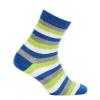 Dětské vzorované ponožky WOLA PROUŽKY modré