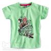Dívčí tričko s krátkým rukávem MOTÝL zelené
