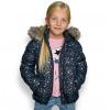Dívčí zimní bunda LEMON BERET HVĚZDIČKY tmavě modrá
