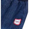 Dětské zateplené džíny CANGURINO MEDVÍDEK modré