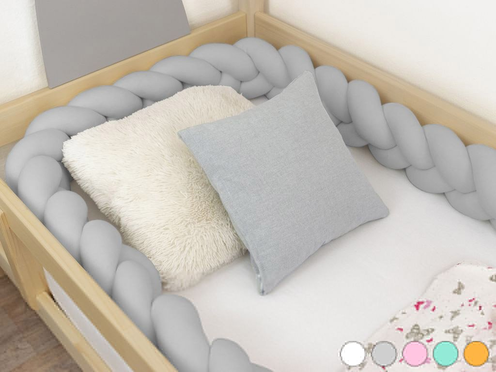 Hand-stew Children's Bed Bumper in Shape of Braid