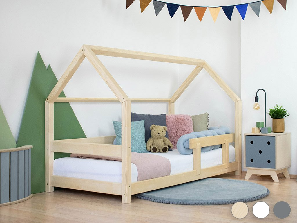 Children's House Bed TERY with Firm Bed Guard