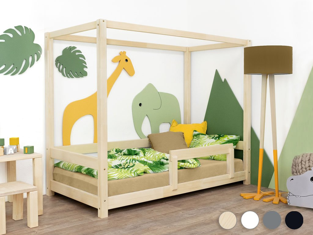 Children's House Bed BUNKY with Firm Bed Guard