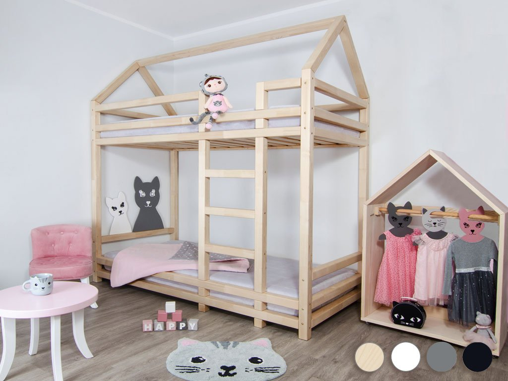 Children's Wooden Bunk Bed TWINY