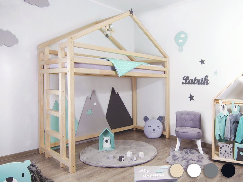 Children's Wooden Loft Bed TOPPY