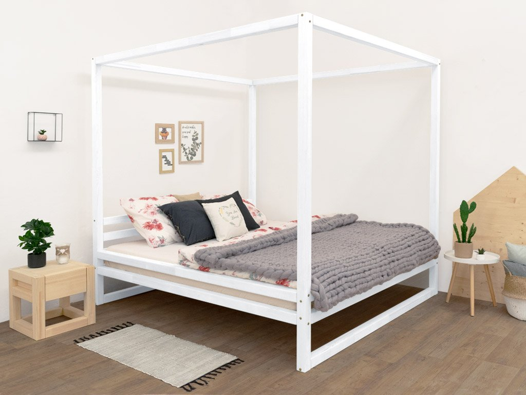 Picture of: Baldee Wooden Double Bed With Canopy