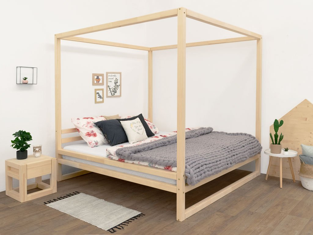 "- Baldee"" Wooden Double Bed With Canopy"