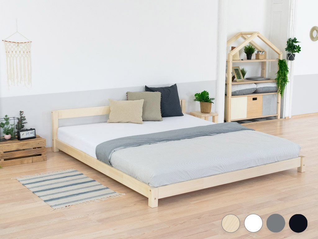 Wooden Double Bed in Scandi Style COMFY