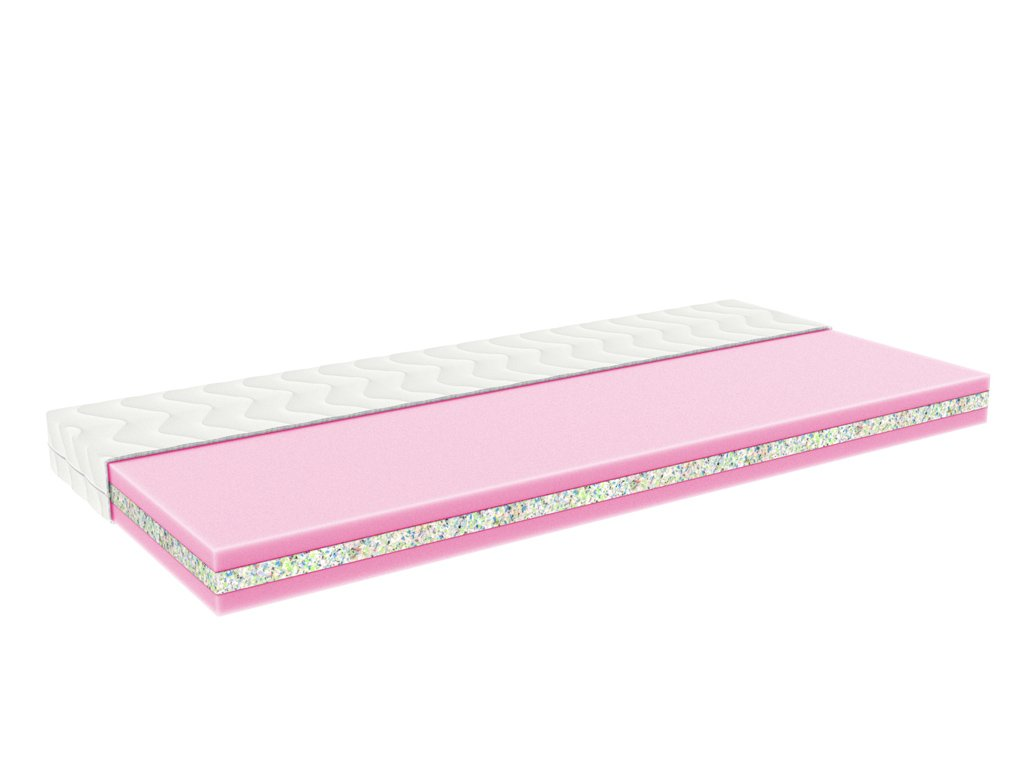 Baby sandwich cot mattress SANDY 60 cm x 120 from PUR foam