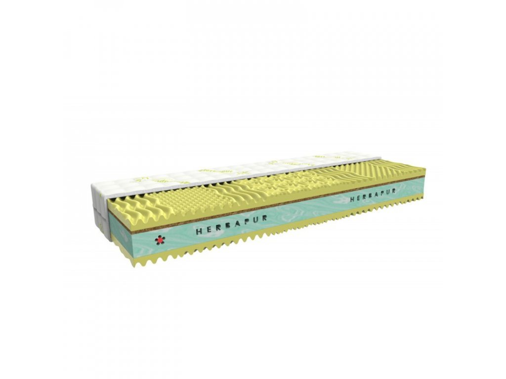 Health mattress HERBAPUR® CAMILA with a memory foam containing camomile and seagrass