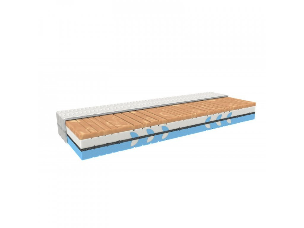 Orthopaedic mattress CUPRA THERAPY with a memory foam and horsehair