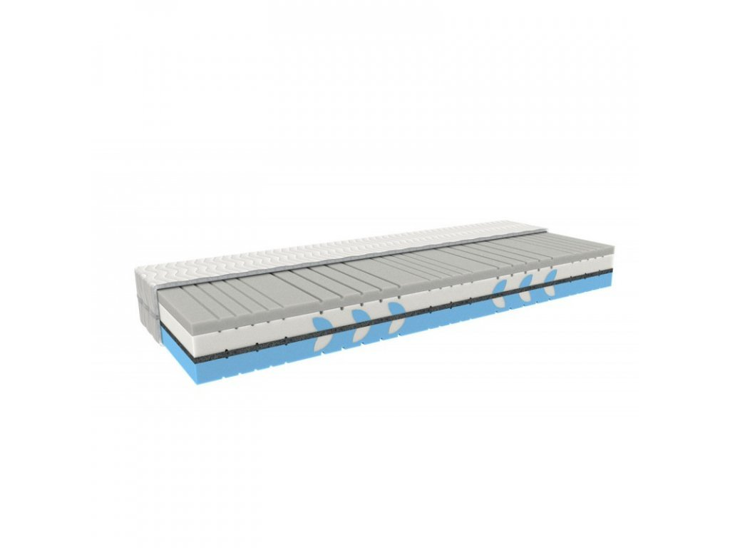 Orthopaedic mattress SILVER THERAPY with a memory foam and silver