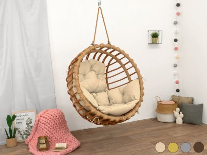 Hand-waved Ecological Swing Chair ELIS from Willow Twigs