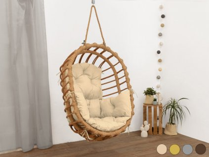 Hand-waved Ecological Swing Chair LENA from Willow Twigs