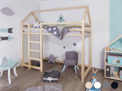 Children's Wooden Loft Bed NESTY