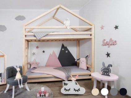 Children's Wooden Bunk Bed CLOUDY