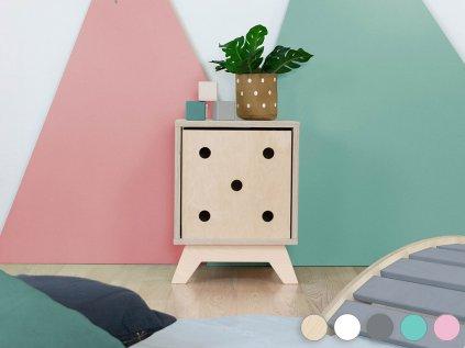Wooden shelf NABOKSY 1x1 with base
