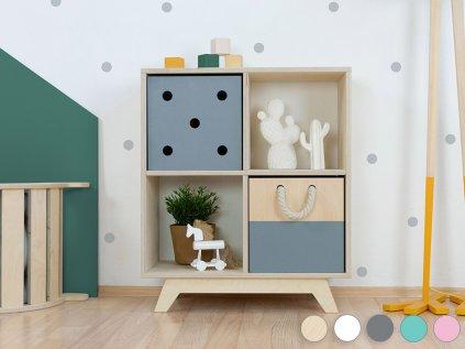 Wooden shelf NABOKSY 2x2 with base