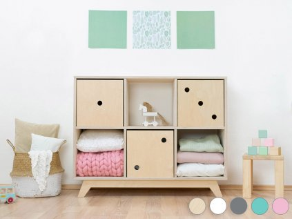 Wooden shelf NABOKSY 2x3 with base