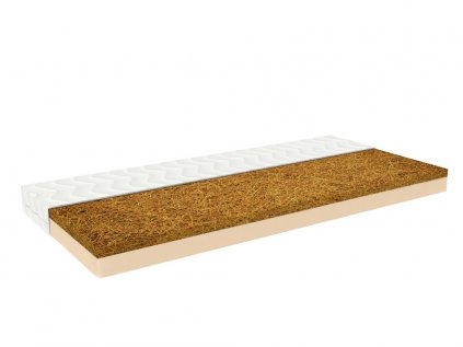 BIO cot mattress NATY 60 cm x 120 cm from a natural foam and seagrass