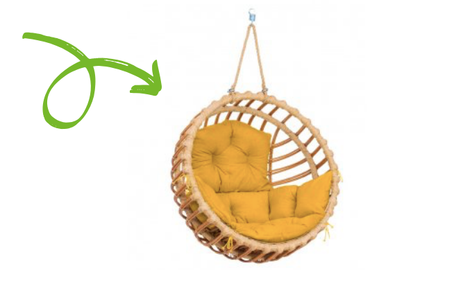 Představujeme: Závěsné křeslo do bytu i zahrady ELIS a LENA