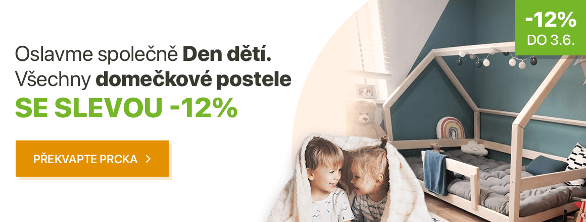 Domečkové postele se slevou 12 %