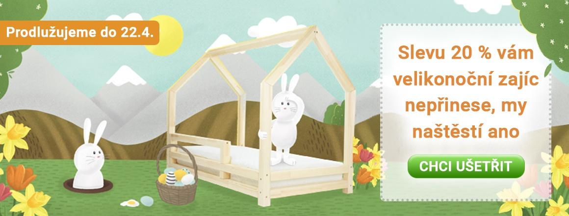 Výprodej domečkových postelí se slevou až 20 %