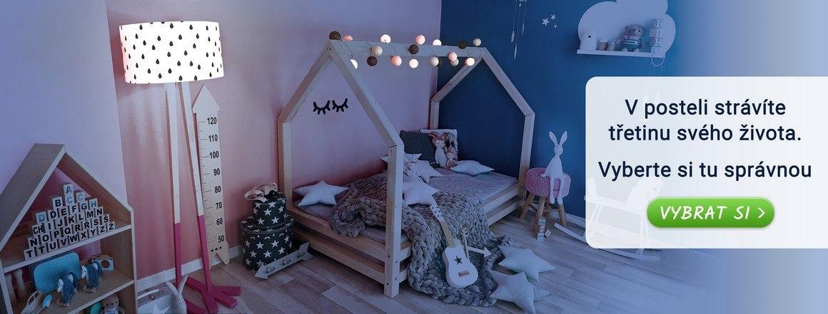 Ručně vyráběné dětské domečkové postele a postele pro dospělé z masivu, které vám ZDARMA dovezeme až domů