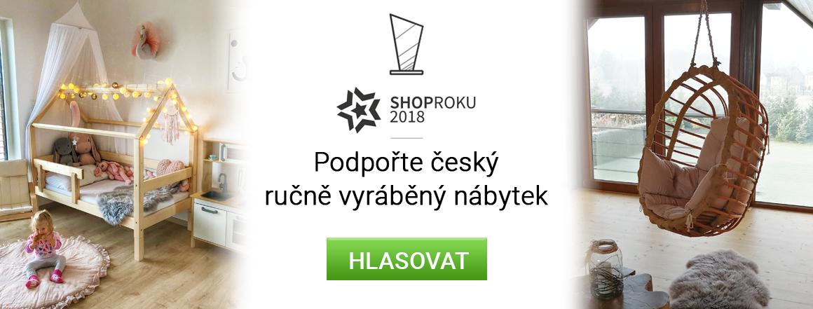 Podpořte český ručně vyráběný nábytek v soutěži ShopRoku 2018
