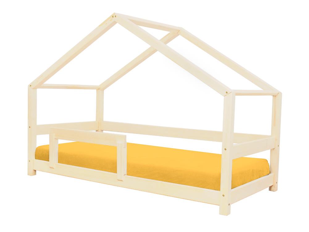 Bezpečná domečková postel s pevnou zábranou