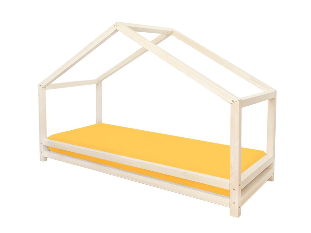 Domečková postel s bočnicí, kterou můžete kdykoliv sundat