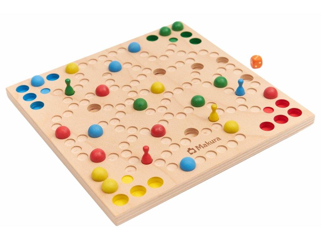 Dřevěná stolní společenská hra KULIČKY