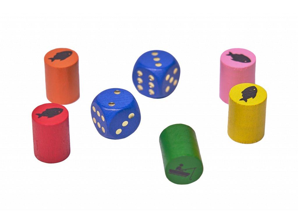 Náhradní komponenty pro hru UPLAVTE RYBIČKY