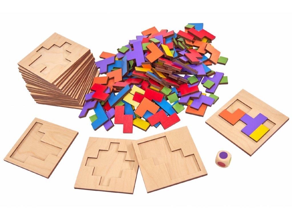Dřevěná stolní společenská hra PIPOLO