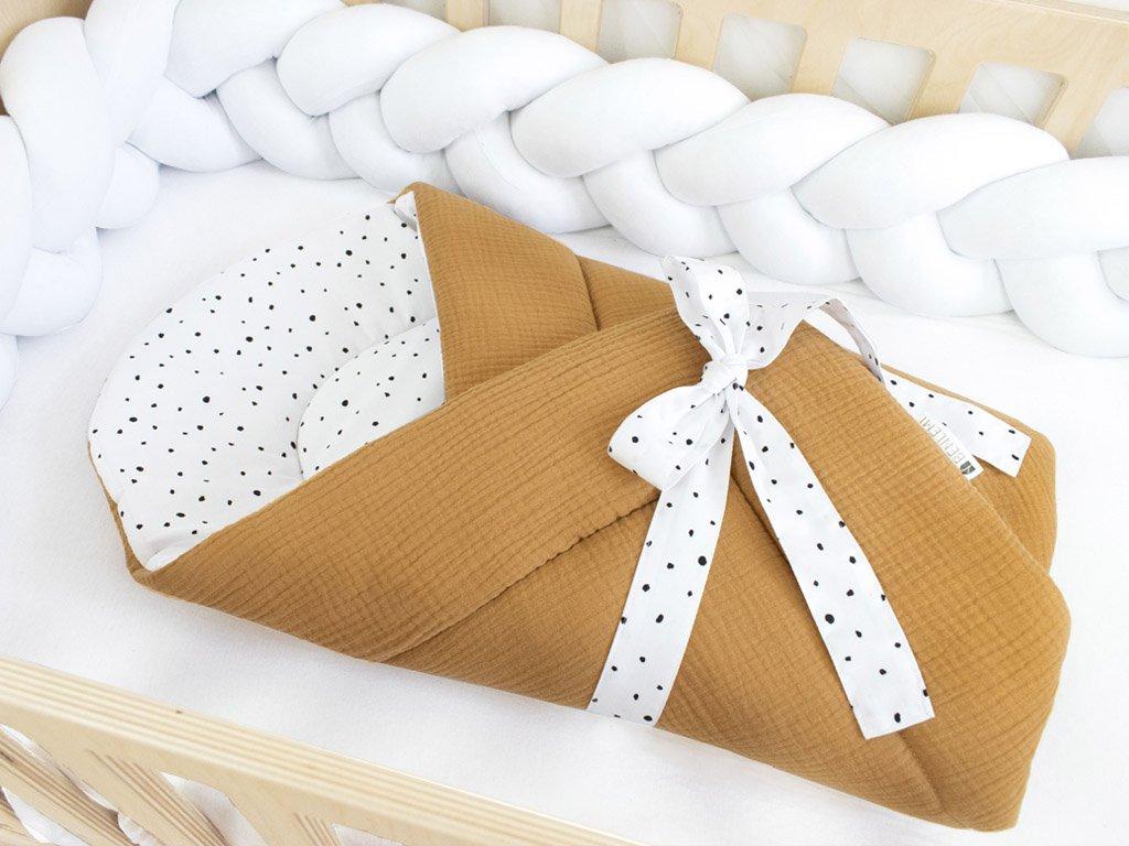 Prémiová oboustranná zavinovačka pro miminko do postýlky PUNTÍKY