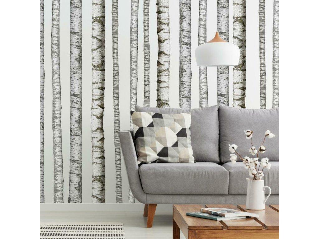 Samolepky na zeď se vzorem stromů BŘÍZY
