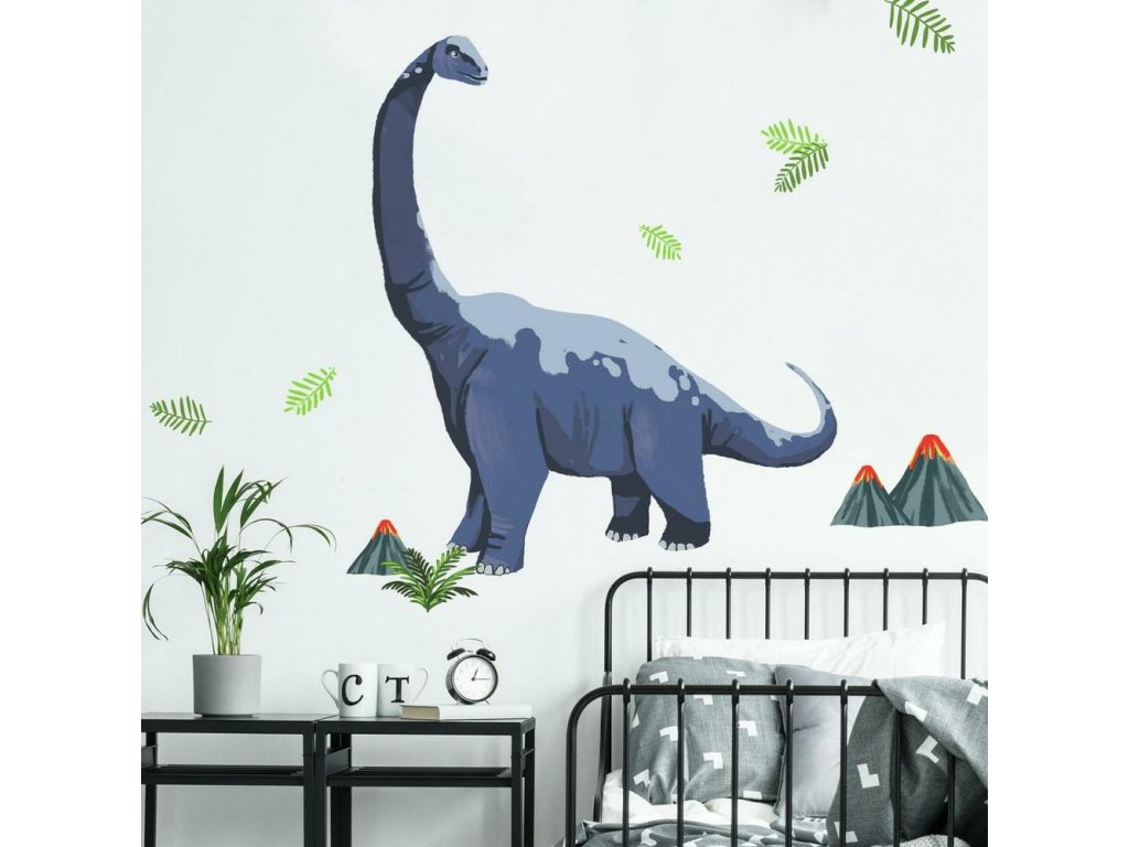 Samolepky na stěnu dinosaurus DIPLODOCUS