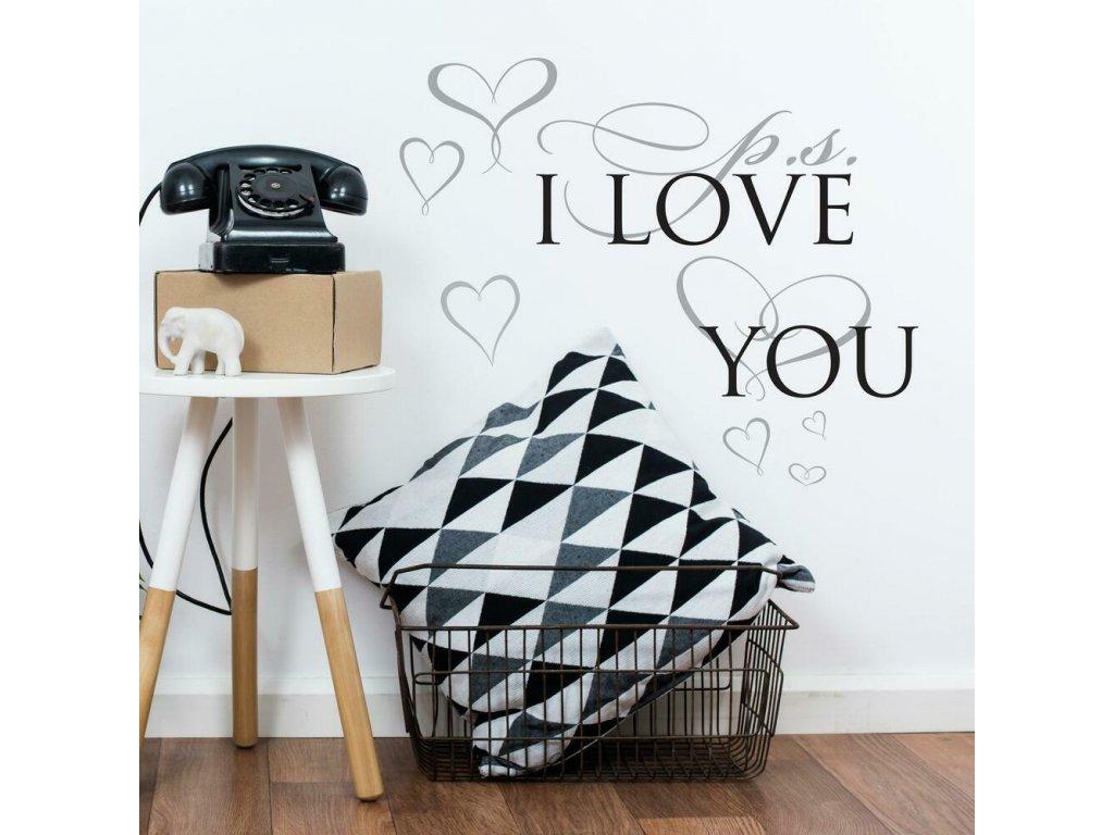 Samolepící nápis na zeď I LOVE YOU